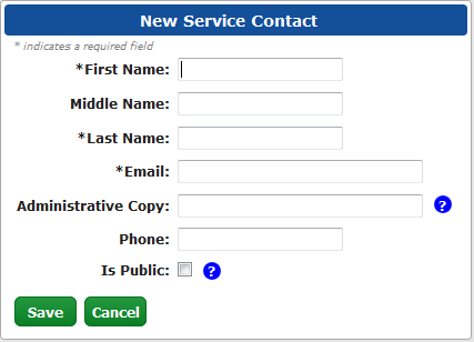 Step Three: Entering Your Contact Information For Service